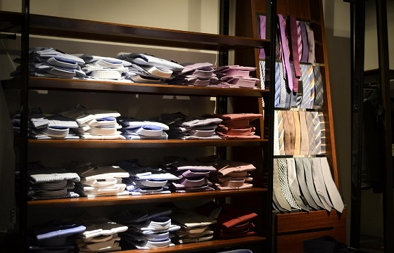 men clothing store shirts and ties
