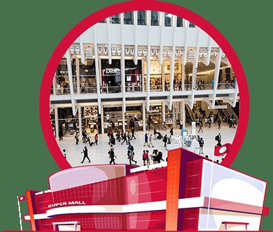 mall traffic people