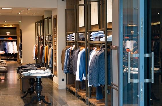 men brick & mortar clothing store indoors