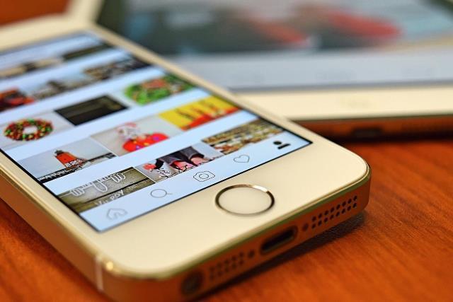 smart phone displaying instagram