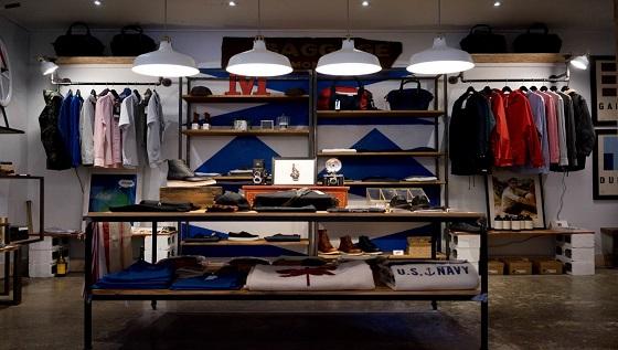 men clothing retail store indoors